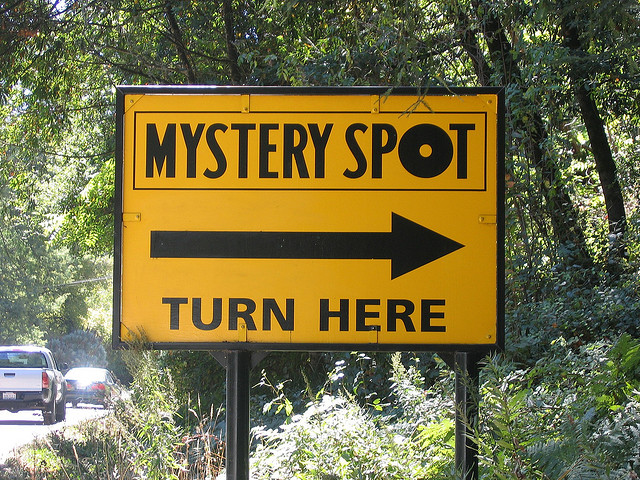 mystery spot sign in santa cruz