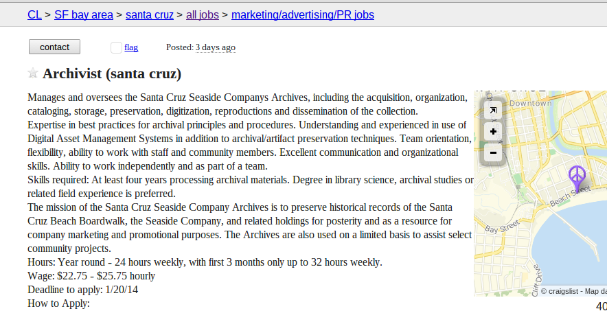Board Archivist Job